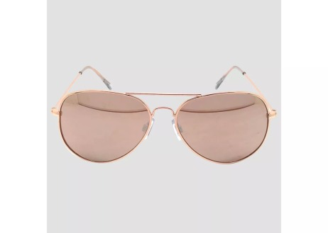 Wild Fable aviator sunglasses rose gold