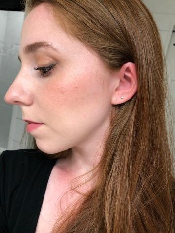 Orazio rose gold stud earrings