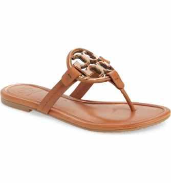 Tory Burch metal miller flip flops